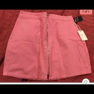 Pink Forever 21 zip skirt size small